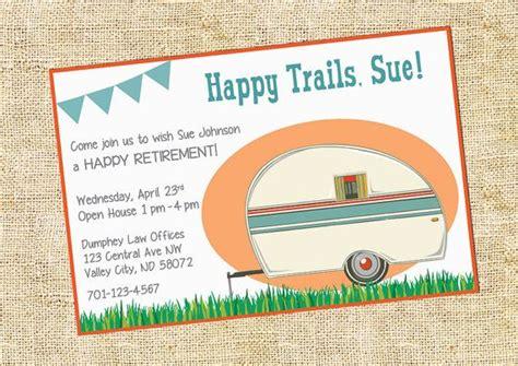 retirement camper party invitation invitations parties