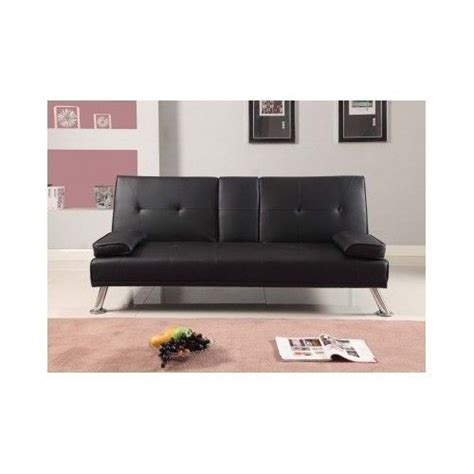black leather sofa bed with cup holder faux leather sofa bed italian style couch luxury drink cup