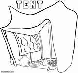 Tent Coloring Camping Drawing Coloringway Printable Circus Silhouette Corduroy Collections Getdrawings Getcolorings sketch template
