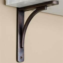 Bookcase Shelf Hardware by Rustic Brass Shelf Bracket Brass Shelf Brackets Shelf