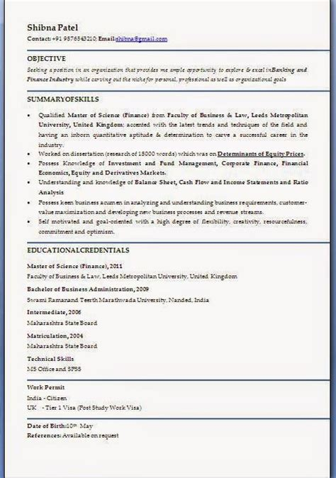Exle Of Cv For Application by Cv Profile Exles Uk Sle Template Exle Ofexcellent