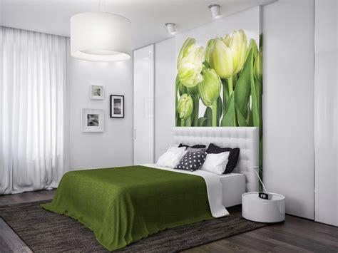 Green White Nature Bedroom