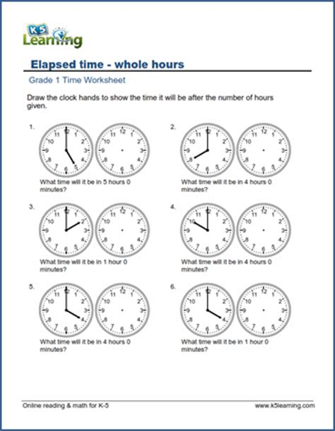 elapsed time worksheets time hours learning