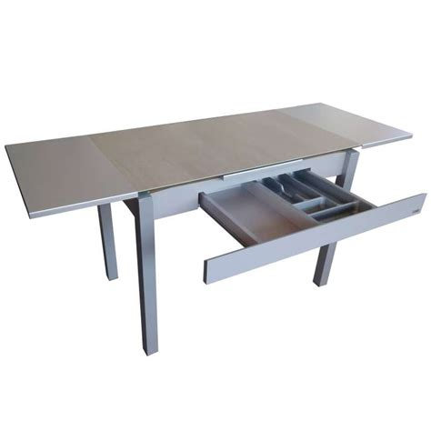 table cuisine 4 pieds beautiful table de jardin aluminium iris gallery awesome
