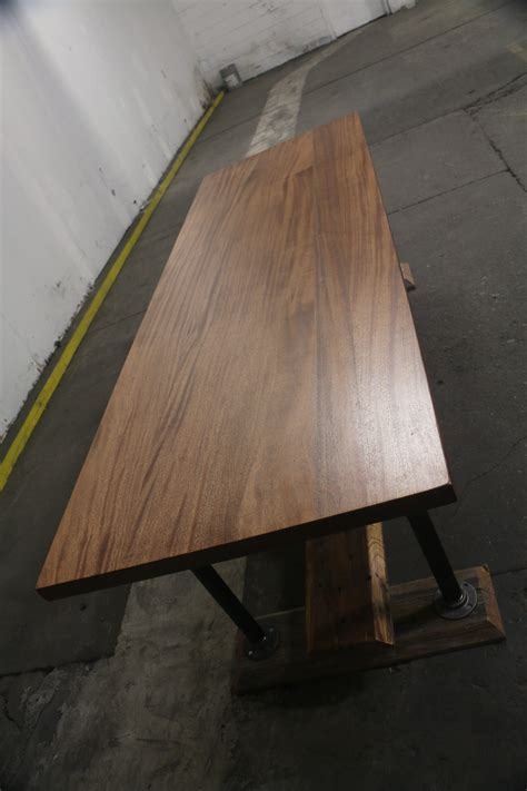 Harvest Farmhouse Mahogany Dining Table   The Industrial