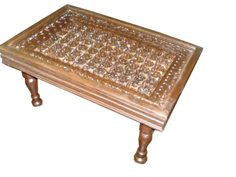 antique furniture  india floral carved coffee table