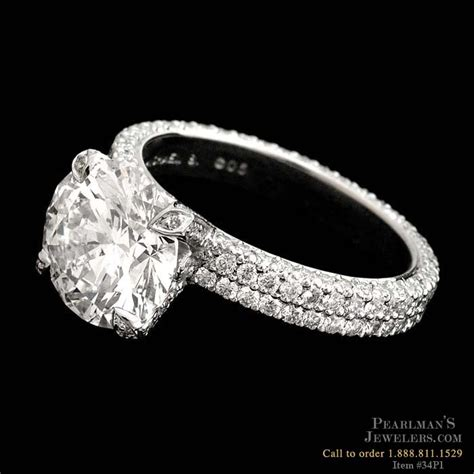 Michael B Jewelry Flat Band 218 Diamond Platinum Ring