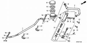 Rear Brake Master Cylinder For 2009 Honda Vtr250