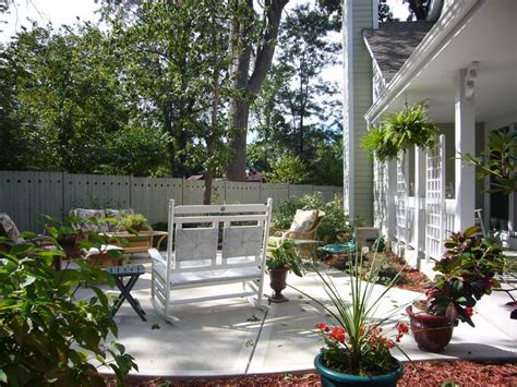 patio front porch landscaping gardening ideas