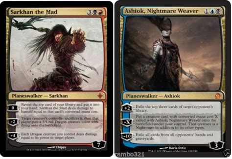 ashiok nightmare weaver deck ashiok nightmare weaver sarkhan the mad 20 random