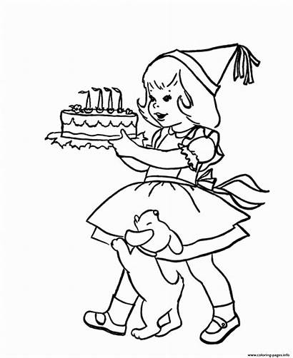 Coloring Birthday Cake Pages Printable