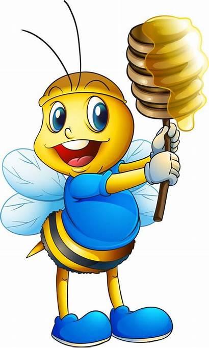 Cartoon Clipart Honey Clip Bee Bees Bumble