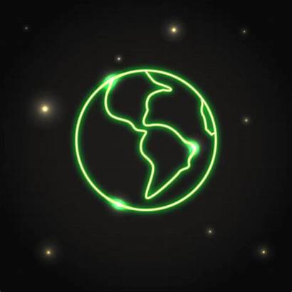 Solar System Clip Vector Neon Planet Illustrations