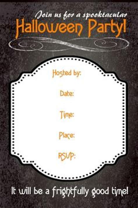 printable halloween invitation flyers festival