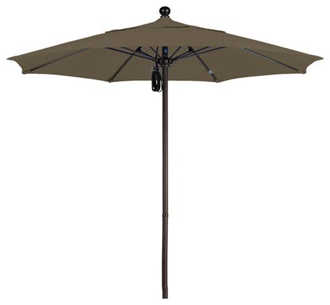 patio umbrella aluminum pole 7 5 foot sunbrella aluminum pulley lift patio market