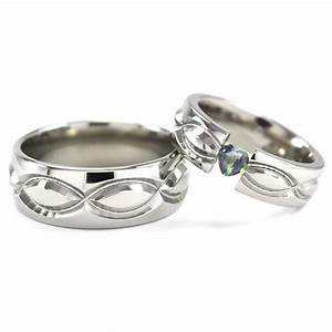 new infinity his and hers tension set titanium wedding rings With wedding rings with infinity symbol