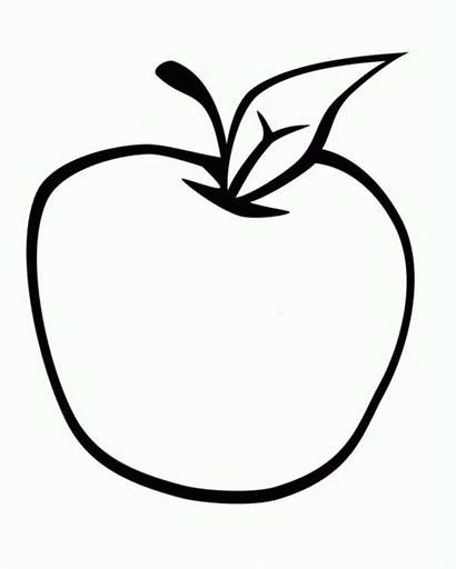 Apple Coloring Pages Salad Fresh Picking Apples