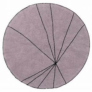 tapis rond lorena canals trace bois de rose 160 cm With tapis rond 160