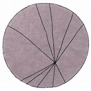 tapis rond lorena canals trace bois de rose 160 cm With tapis rond 160 cm