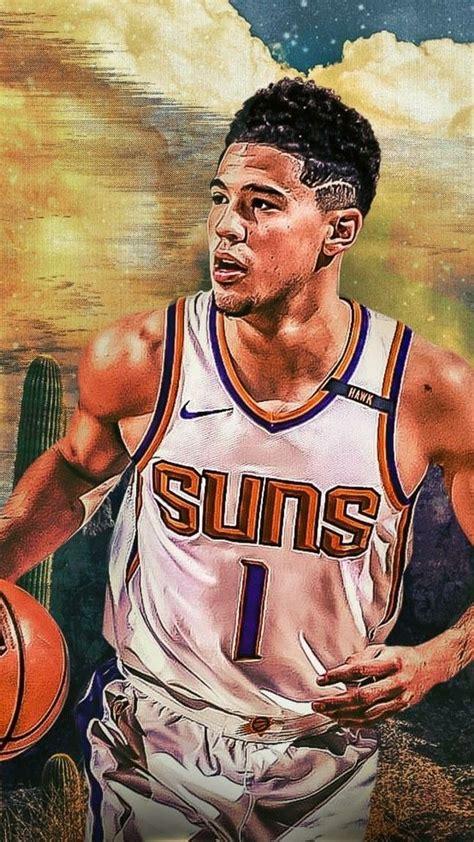 devin booker wallpaper devin booker nba basketball art