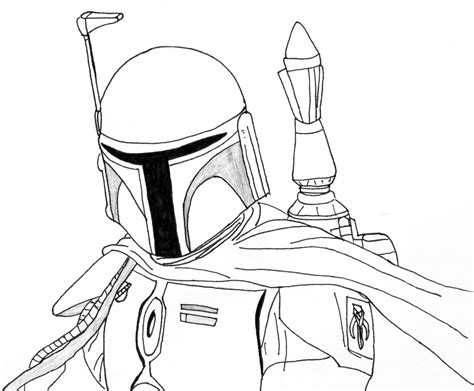 Star Wars Coloring Pages Boba Fett Coloring Home