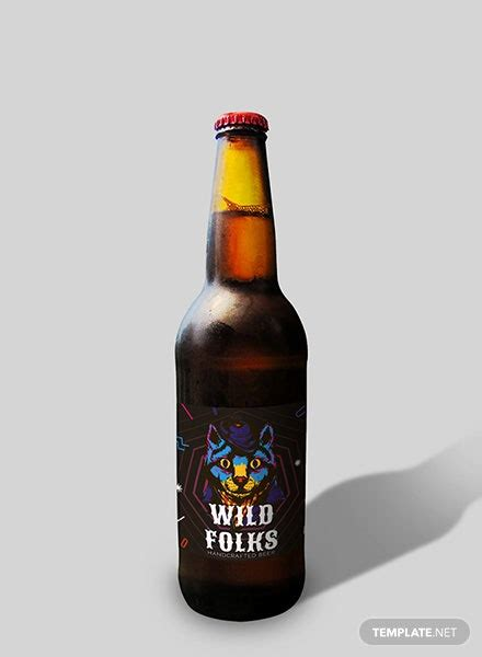 sample beer label template  psd ms word publisher