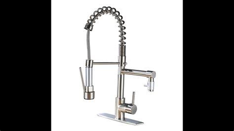 eyekepper aquafaucet brushed nickel kitchen sink faucet pull   sprayer youtube