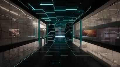 Futuristic Desktop Sci Fi Computer Technology Space