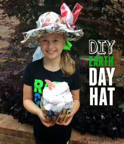 crafty texas girls ideas  earth day hats