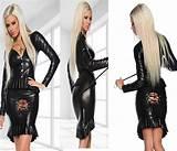 Womens leather fetish clothing