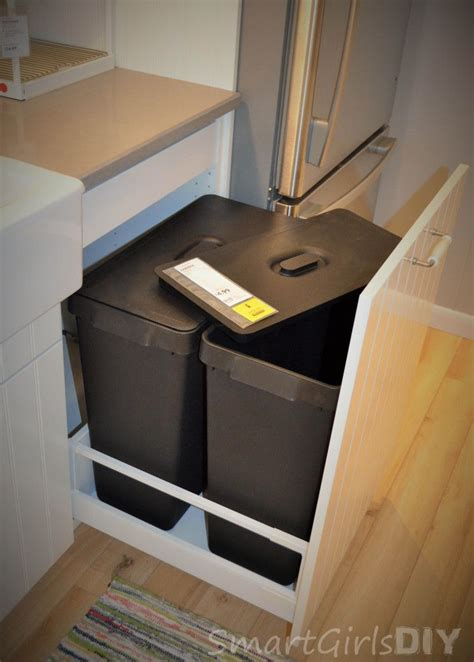 american sized garbage cans pullout  ikea sektion base