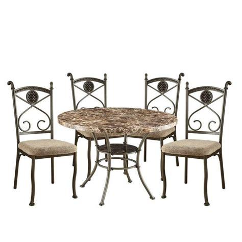 acme furniture kleef 5 dining set in brown