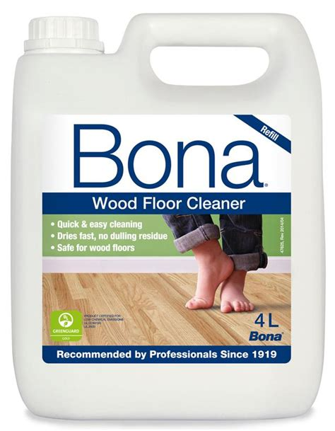 Bona Hardwood Floor Cleaner Spray by Bona Wood Floor Cleaner Refill 4 Ltr To Refill Bona Spray