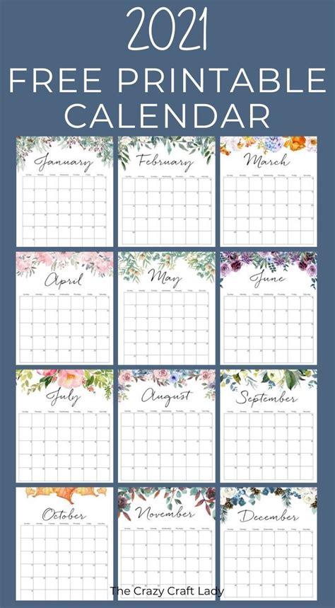 printable floral wall calendar   wall