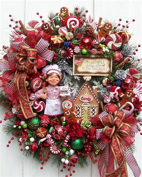 elf  gingerbread christmas wreath