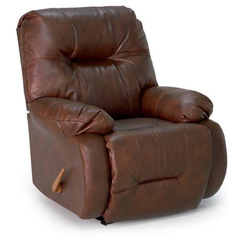 brinley swivel rocker recliner  bonded leather