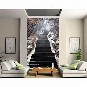 sticker mural geant trompe l39oeil escalier wande With balkon teppich mit trompe l oeil tapete