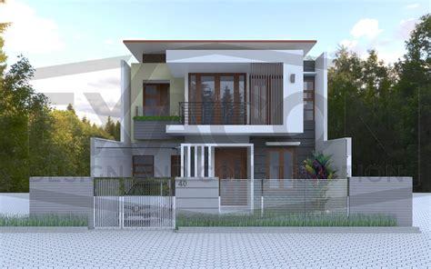 proyek desain rumah 2 lantai minimalis modern bpk tri