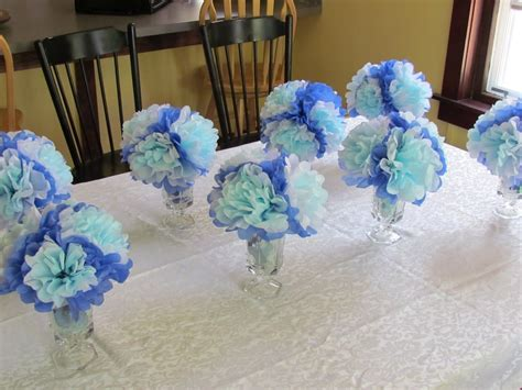 blue centerpieces for baby shower baby shower centerpieces ideas for a boy best home design 2018