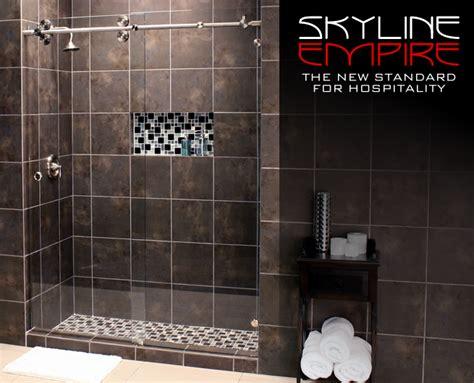 skyline shower door skyline empire series skyemp 3 8 glass four 2