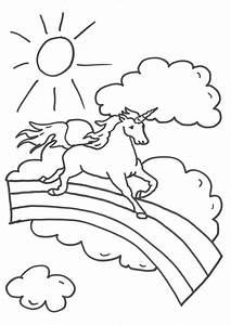 Regenbogen Zum Ausmalen : kostenlose malvorlage einh rner einhorn auf dem regenbogen zum ausmalen ~ Buech-reservation.com Haus und Dekorationen