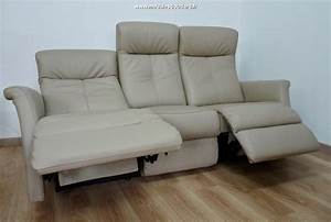 canape cuir relaxation 3 places ref odyssee With canape cuir allemand