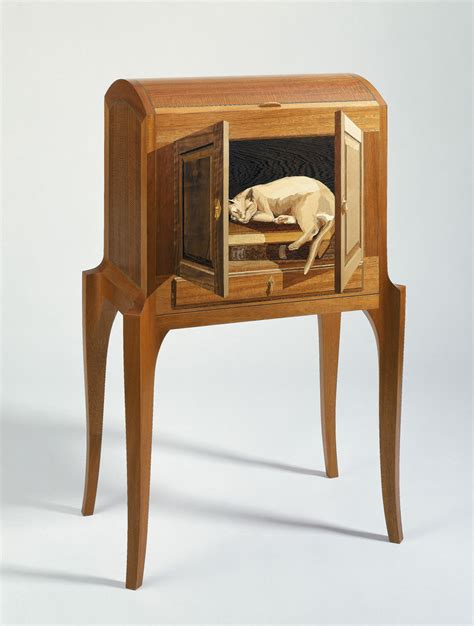 cat furniture silas kopf woodworking inlaid wood marquetry