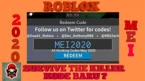 And feel free to subscribe if you are new!  NEW CODE  🇮🇩 SURVIVE THE KILLER 🔪 - YouTube