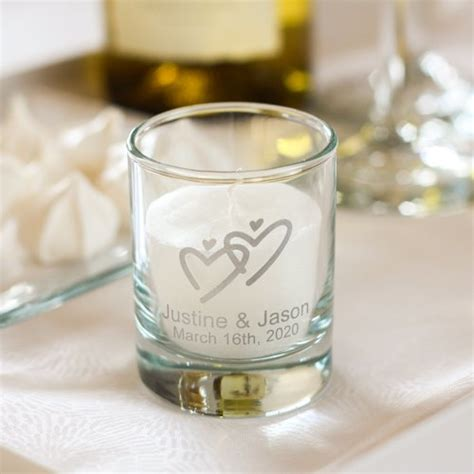 personalized stemless wine glasses for bridesmaids personalized wedding votive candle holders