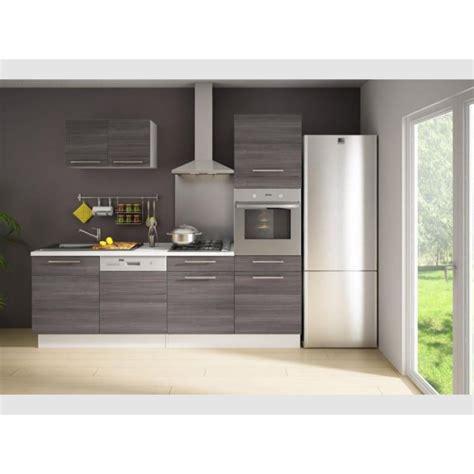 cdiscount cuisine en bois cuisine complète 240cm bois gris latitude achat vente