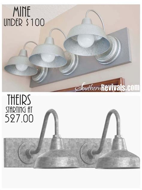 diy triple galvanized gooseneck vanity light fixture