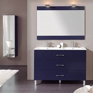 Meuble Tiroir Salle De Bain : meuble salle de bain poser 120 cm 3 tiroirs plan composite line ~ Teatrodelosmanantiales.com Idées de Décoration