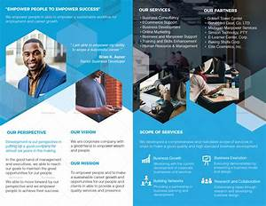 company profile bi fold brochure design template in psd With company profile template microsoft publisher