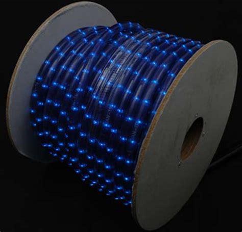 blue rope lights 150 blue incandescent rope light spool 1 2 quot 120v